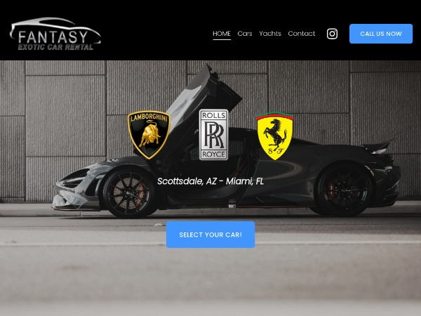 Scottsdale Exotic And Luxury Car Rental Collection - Fantasy Exotic Cars of Arizona |
