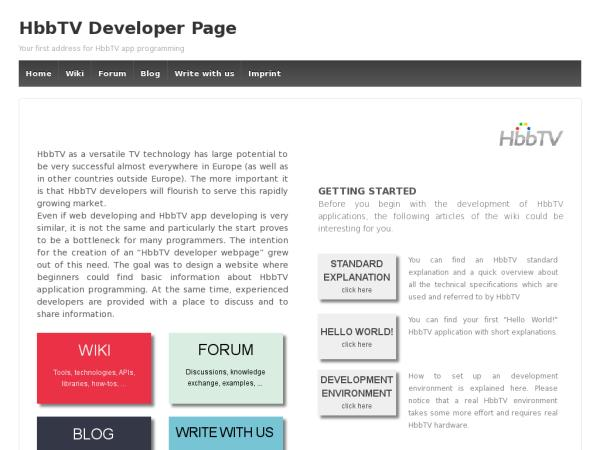 HbbTV Developer Page – Your first address for HbbTV app programming